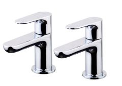 Wolseley Own Brand Nabis Swish basin pillar taps Chrome (Pair)