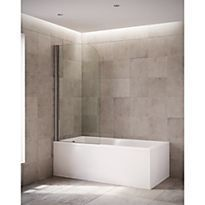 MIRA ELEVATE 1 PANEL CURVED BATHSCREEN