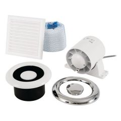 Airline Shower Fan Kit Timer Wh/Ch