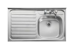 Leisure Contract Lc106l Left Hand Square Front 1000 X 600 Stainless Steel