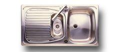 Leisure Euroline El9502 Reversible 1.5 Bowl 950 X 508 Stainless Steel