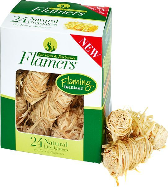 24 Pack - Flamers Natural Firelighters (Box Of 48)