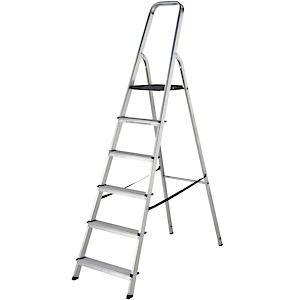 High Handrail Stepladder 6 Tread