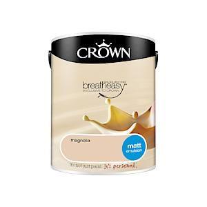 Crown Breatheasy Matt Emulsion - 5 Litre - Magnolia
