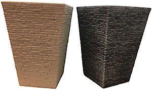 Slate Planter Tall 30Cm Stone