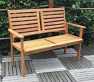 Napoli 2 Seat Wooden Bench