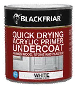 B/F Quick Drying Acrylic Primer Undercoat White - 500Ml