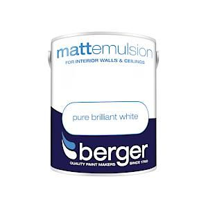 Berger Matt Emulsion - 5L - Bril White