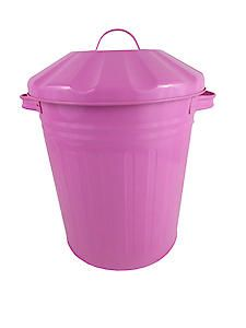 Mini Bin 12L Powdrcoat Pink 77044