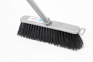 Stiff Silver Indoor Broom And Handle