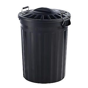 80L Refuse Bin&Handle Black Gn346