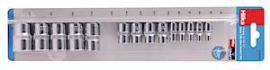 14 Pce 1/2 3/8 1/4 Tx Star Socket Set