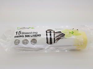 15 X 50L Drawsting Swing Bin Liners (Vanilla Scented)