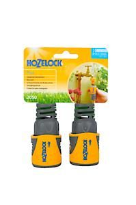 Hozelock Hose End Connector Plus (12.5Mm & 15Mm) Twin Pack - Carded