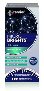 100 Bo Multi Action Microbrights.White With Timer  Cdu