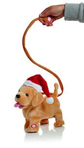 28Cm Animated Dog With Lead