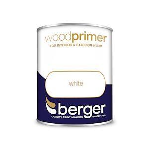 Berger Wood Primer White 750Mls