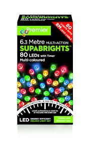 80 Led Multi Action Sbirghts Timer Multicolour