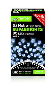 80 Led Multi Action Sbirghts Timer White