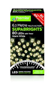 80 Led Multi Action Sbirghts Timer Warm White
