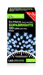 120 Led Multi Action Sbirghts Timer White