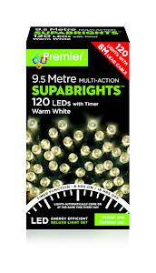 120 Led Multi Action Sbirghts Timer Warm White