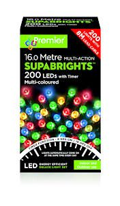 200 Multi Action Led Sbirghts Timer Multicol