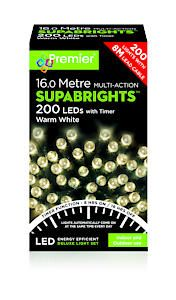 200 Multi Action Led Sbirghts Timer Warm White