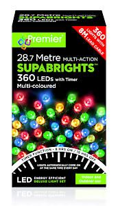 #360 Multi Action Led Sbirghts Timer Multicol