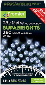 #360 Multi Action Led Sbirghts Timer White