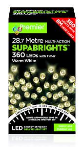 #360 Multi Action Led Sbirghts Timer Warm White