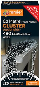 #480 Multi Action Led Clusters Timer White