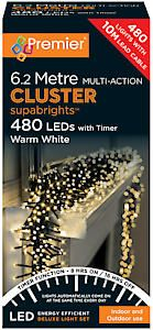 #480 Multi Action Led Clusters Timer Ww Warm White