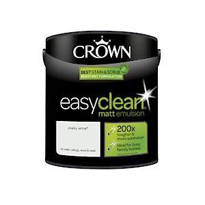 Crown Easyclean Matt Emulsion Chalky White