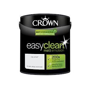 Crown Easyclean Matt Emulsion Clay White 2.5L