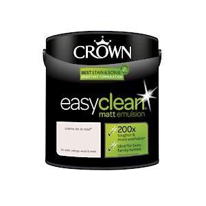 Crown Easyclean Matt Emulsion Crème De La Rose 2.5L