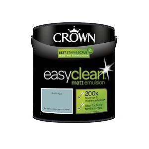 Crown Easyclean Matt Emulsion Duck Egg   2.5L