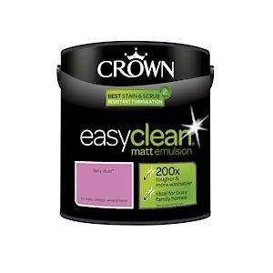 Crown Easyclean Matt Emulsion Fairy Dust 2.5Litre