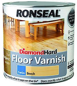 Ronseal D.Hard Floor Varnish Wh Ash 2.5L