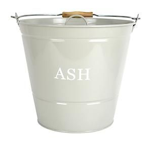 Ash Bucket With Lid Olive 0452