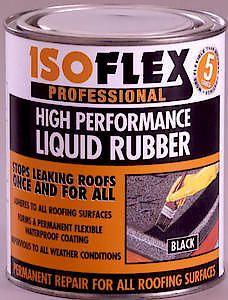 ISOFLEX LQD RUBBER   BLACK 4.25L