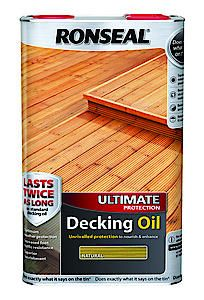 Ronseal Ult Deck Oil Dark Oak 5L