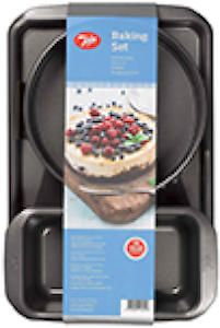 Tala Essentials Baking Set - 9 Springform Cake Tin; 2Lb Loaf Tin And A Large Baking Tray