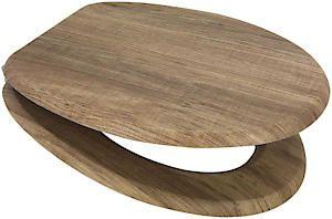 Mdf Toilet Seat Rustic Oak