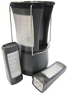 Large Led Lantern With Detachable Torches