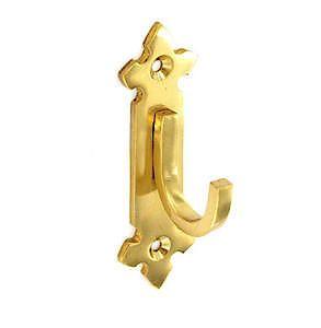 Brass Tieback Hook Gothic