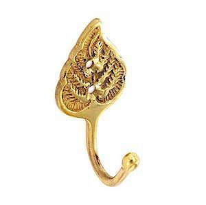 Brass Tieback Hook Leaf