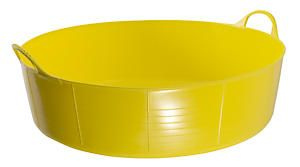 Flks Shallow Tubtrug Yellow 35L