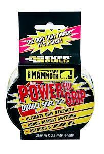 Mammoth Powerful Grip Tape 25Mm 25Mm X 2.5Mtr Clear