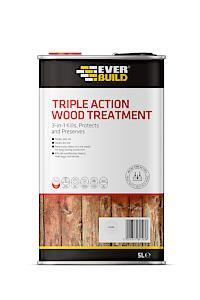 Triple Action Wood Treatment 5Ltr Clear